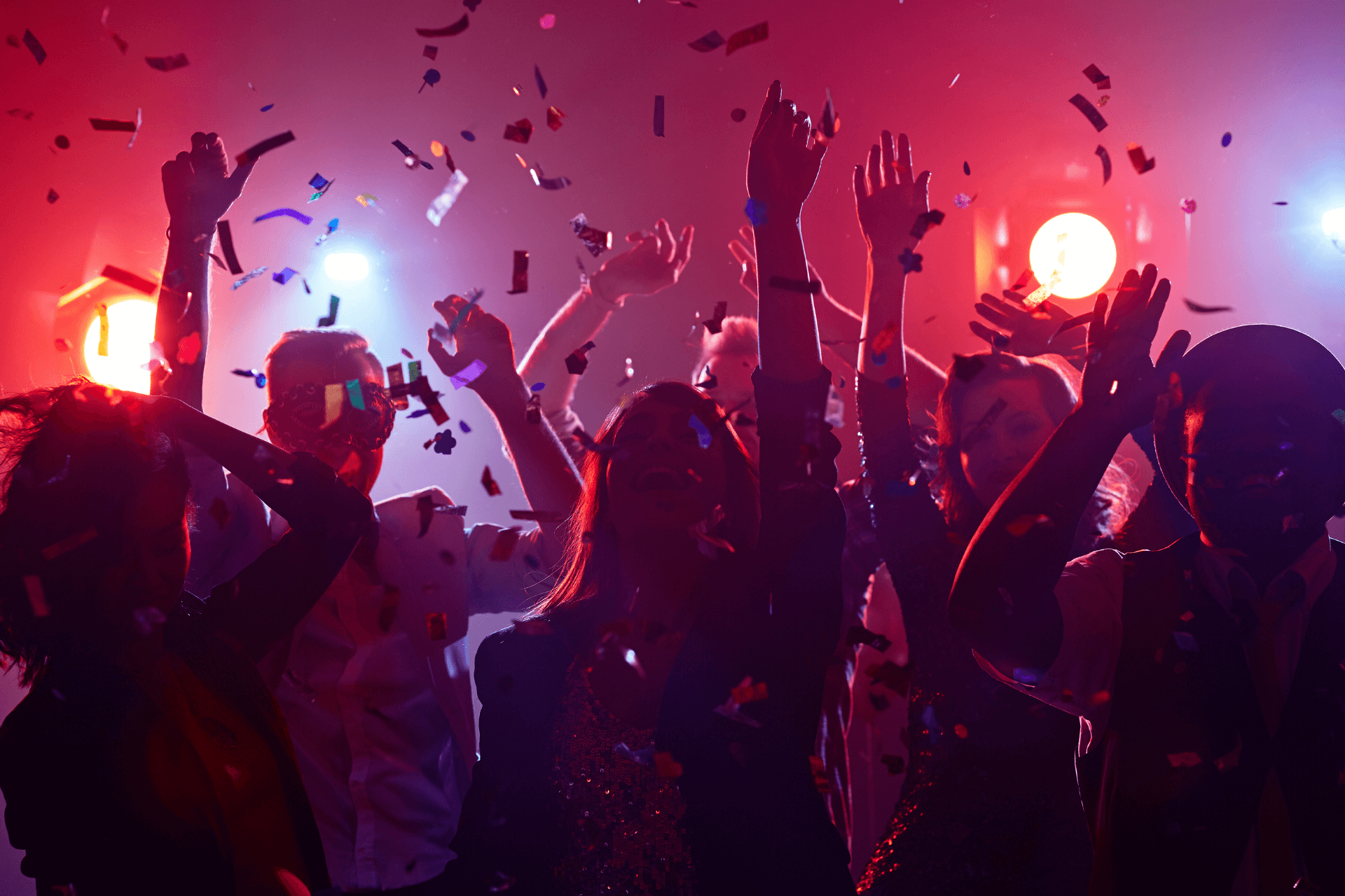 People dancing at a club